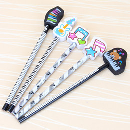 $enCountryForm.capitalKeyWord Australia - Musical Note Pencil HB Standard Round Pencil Music Stationery Piano Eraser School Student Gift Prize Pencil Promotion