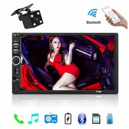 Discount touch screen music player - 2 Din Car Radio Bluetooth Car Audio 7'' Touch Screen Music Video Player Support Rear View Camera AUX TF Card A