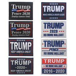 $enCountryForm.capitalKeyWord NZ - Trump 2020 Embroidery Cloth Sticker Trump Cap Patch Magic Sticker Armband Make America Great Again Badge Cartoon Accessories TTA765