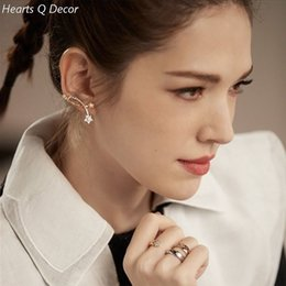 japan studs UK - Glam Amazing Zirconia Star Stud Earrings Punk Party Gown Brincos Runway rare Boucle d'oreille Korean Japan Style Fashion
