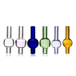 $enCountryForm.capitalKeyWord UK - DHL Universal Colored glass bubble carb cap round ball dome for Quartz thermal banger Nails glass water pipes, dab oil rigs