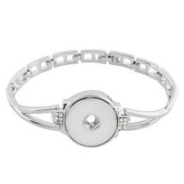 Cheap Gold Chains Sets NZ - Cheap Charm Bracelets 2018 New Silver Round Rhinestone Charms Bracelet Snap Bracelet Fit 18mm Snap Button For DIY Snaps Jewelry KC0777