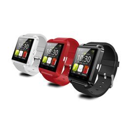 $enCountryForm.capitalKeyWord Australia - Smart Watch Bluetooth Android Phone Smart Wristband Sport Wrist Watch U8 Smartwatch Intelligent Mobile Phone Black Gifts NEW 100pcs