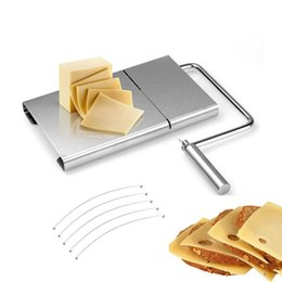 Butter Cutter Australia - Butter Plate Stainless Steel Cheese Slicer Multi-function Cutter For Cheese Ham Bread Kitchen Utensil Tools 2 Pieces ePacket