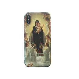 Middle Case Iphone Australia - Retro Europe Middle Ages Painting Style Phone Cases for IPhoneX XS IPhone7 8plus IPhone7 8 6 6s 6 6sP Fashion Instagram Style IPhone Case