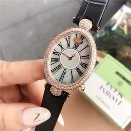 ladies digital watch leather strap Canada - fashion genuine leather strap quartz Wristwatches Christmas gift luxury women designer watches diamond iced out lady watches montre de luxe