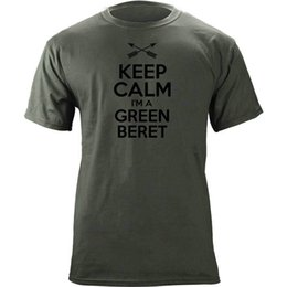 beret breathable 2019 - Classic Keep Calm I'm a Green Beret T-Shirt Funny free shipping Casual Tshirt top discount beret breathable