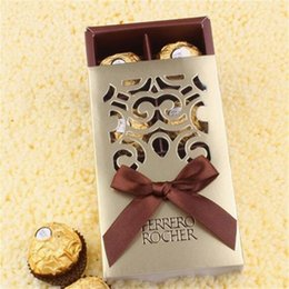 Sugar pulp online shopping - Gold Color Sugar Cases Hollow Out Wedding Sugars Box Piece Chocolate Wrap Paper Boxes Hot Selling xy L1