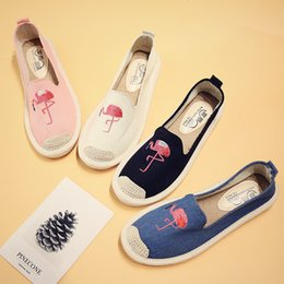 Fishermen Flats NZ - Embroidered embroidered canvas shoes women weave flat shallow mouth shoes fisherman casual shoes.