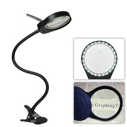 $enCountryForm.capitalKeyWord Australia - Led Magnifier Light 6000-7000k 5w Magnifier 3x 10x Large Lens Magnifying Reading Light For Reading Clip-on Table Lamp