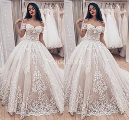 $enCountryForm.capitalKeyWord Australia - 2019 Romantic Arabric Lace Wedding Dresses Off Shoulder Appliques Sweep Train Country Style Bridal Gown Plus Size Charming Vestidoe De Noiva