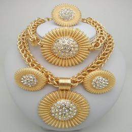 $enCountryForm.capitalKeyWord Australia - Kingdom Ma Gold Color jewelry sets African Costume Zinc Alloy Jewelry Set Nigerian Wedding African Beads Pearl big sets