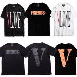 $enCountryForm.capitalKeyWord Australia - Vlone T-Shirts Men Women High Quality Pop Up Papking Fragment Top Tees Fashion T Shirt V Friends Vlone T-Shirts