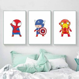 $enCountryForm.capitalKeyWord Australia - Superhero Print And Poster Cute Wall art For Kids Boys Room Home Decor Marvel Movie Posters