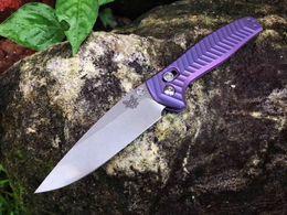 "$enCountryForm.capitalKeyWord Australia - Bench-Made AXIS 7-81 Anthem Folding Knife 3.5"" Satin M390 Blade, Rainbow Chevron Integral Titanium Handles Survival BM31 Knifes EDC Tools"