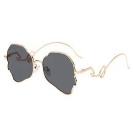 Funny sunglasses online shopping - Men Irregular sunglasses Human Shape Hyperbole Funny Stainless Steel Sun Glasses Men Fashion Frog Sunglasses LJJR196