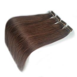 La migliore vendita 2019 nuovo stile di capelli 20 22 pollici doppio estratto marrone europeo Remy pre-legato 6D estensioni dei capelli umani usura veloce in Offerta