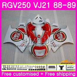 fairing 1989 Australia - Bodys For SUZUKI SAPC RGV 250 VJ21 RVG250 RGV250 88 89 90 91 92 93 17HM.8 RGV-250 VJ22 1988 1989 1990 1991 1992 1993 Fairing Hot Lucky red