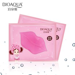 lips mask patch 2019 - BIOAQUA Plumper Crystal Collagen Lip Mask Pads Moisture Essence Anti Ageing Wrinkle Patch Pad Gel Lips free shipping che