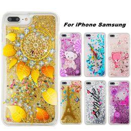 Iphone 6s Plus Phones Australia - Phone Case For Samsung S6 edge Huawei P8 Lite Cases Liquid Glitter Quicksand TPU Cover For iPhone 6 6s 7 8 Plus
