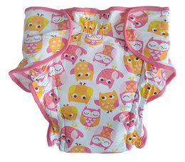 Wholesale Adult Printed Owl cloth pant with velcro Adultbrief with padding inside ABDL trainning pant washable adult trainning pant