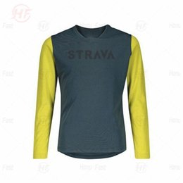 jersey bmx NZ - Men's Downhill Jerseys STRAVA Mountain Bike MTB Shirts Offroad DH Motorcycle Jersey Motocross Sportwear BMX Clothing