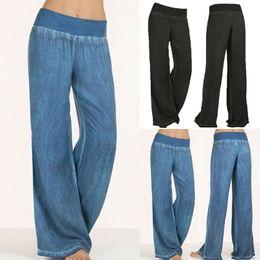 Yoga Pants Xxl NZ - Women Ladies Loose Harem Wide Leg Long Pants Palazzo Trousers Yoga Casual Elastic Waist Pants Plus Size 5XL