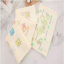 Wash Towels Australia - Newborn Baby Handkerchiefcartoon Feed Saliva Infant Nursing Baby Towel Soft Cotton Hand Wipe Muslin Wash Cloth Bathing 25X25Cm toallas 7443