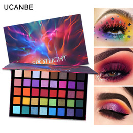 glitter wholesaler NZ - UCANBE Spotlight 40 Color Eye Shadow Palette Colorful Artist Shimmer Glitter Matte Pigmented Powder Pressed Eyeshadow Makeup Kit