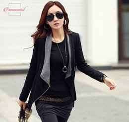korean long scarves Australia - Jackets New Autumn Women Long Sleeve Casual Jacket Coat Korean Style Zipper Winter Slim Outwear Zipper Drop Shipping