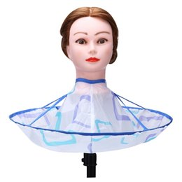 $enCountryForm.capitalKeyWord NZ - Foldable Hair Cutting Cloak Umbrella Waterproof Cape Salon Hairdresser Antistatic Hairdressing Wrap Haircut Styling Cloth