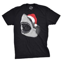 $enCountryForm.capitalKeyWord UK - Mens Santa Jaws T Shirt Cool Christmas Hat Shark Ocean Pun Tee For Xmas Party summer o neck tee, free shipping cheap tee