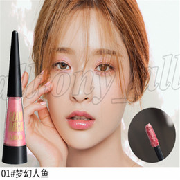 Oil Free Lipstick NZ - Europe and America 6 Colors Liquid Matter Lipsticks Eyes make up Liquid Cosmetics with free shipping