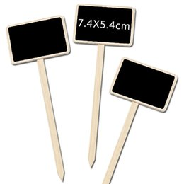 Wholesale Mini Wooden Chalkboard Creative Blackboard Signs Garden Flowers and Plants House Tags Labels Party Decoration KKA7171