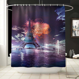 Bath Reasonable 3d City Night View 8 Shower Curtain Waterproof Fiber Bathroom Windows Toilet Home & Garden