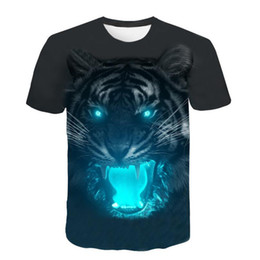printed v neck t shirts UK - Short Sleeve T-Shirt 2019 Casual Mens Clothing New Fashion 3D Flood Printed T-shirt Top