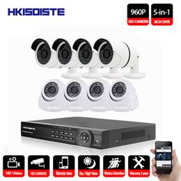 Dvr Channel Cameras Australia - HKIXDISTE 960P Outdoor Surveillance Security Camera System 8 Channel Surveillance 1080P DVR Kit 8CH CCTV Camera Set Night Vision