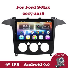"car antenna for ford UK - Android 9.0 Car Radio HD 9.0"" IPS Touchscreen For Ford S-Max Manual A C 2007 2008 Bluetooth GPS Navigation Support OBD DVB TV"