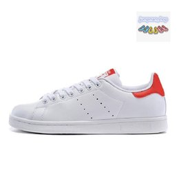 balck lace 2019 - Cheap Leather stan casual mens womens Fahion stan shoes smith with white balck Green pink red all black New Sneaker Flat