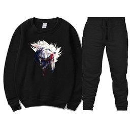 Winter Snow Suits Australia - New Sport Suit Hoodies Snow Wolf Hooded Men Casual Cotton Fall   Winter Warm Sweatshirts Men's Casual Tracksuit Costume
