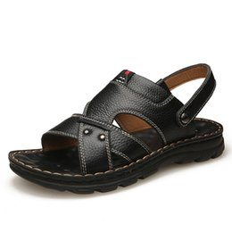 $enCountryForm.capitalKeyWord NZ - Men's Summer Outside Solid Youth Breathable Beach Buckle Fashion Shoes Casual Tide Wild Leather Sandals Hot Apr 22
