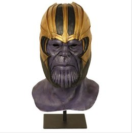 costume cosplay top UK - Top Grade Latex Hot Movie Avengers Infinity War Cosplay Costumes Thanos Mask Halloween Masks For Adlut cosplay