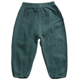 $enCountryForm.capitalKeyWord UK - Spring Autumn New Arrival Loose Pants For Children Boys Clothes Harem Girls Pants Solid Cotton Pants Baby Kids Soft