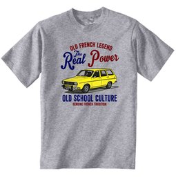 Vintage Car Prints NZ - VINTAGE FRENCH CAR RENAULT 12 BREAK - NEW COTTON T-SHIRT colour jersey Print t shirt