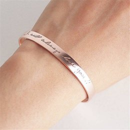 $enCountryForm.capitalKeyWord Australia - wholesale Personalized Gold Silver Bracelets Bangles for Women Custom Name Engraved Cuff Bracelet Bangle Hand Armband Jewelry Gifts