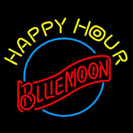 $enCountryForm.capitalKeyWord UK - New Star Neon Sign Factory 17X14 Inches Real Glass Neon Sign Light for Beer Bar Pub Garage Room Happy Hour Blue Moon.
