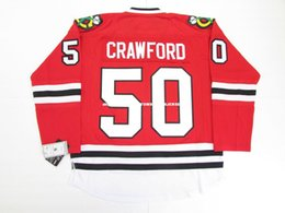 crawford jerseys UK - custom COREY CRAWFORD CHICAGO BLACKHAWKS HOME 2015 STANLEY CUP FINAL JERSEY stitch add any number any name Hockey Jersey