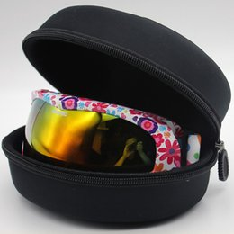 ski goggles case Canada - Adult Child Snow Ski Eyewear Case Water Resistant Portable Snowboard Skiing Goggles Sunglasses Carrying Case Zipper Hard Box