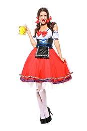 $enCountryForm.capitalKeyWord Australia - Sexy Women Red Short Original Bavarian Beer Girl Costume Carnival European Traditional Cosplay Fancy Dress German Oktoberfest Uniform