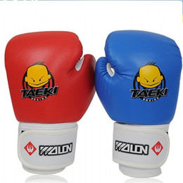 Kids box gloves online shopping - Children Thicken Boxing Glove Cartoon Taek Letters Prints Kid Mittens Training Fists Gloves Safety Pairs sk E1